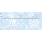 Geographics Winter Paradise Seasonal Envelope, Blue/White, 35/Pack (49196)