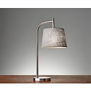 """Adesso® Blake 25""""H Incandescent Table Lamp, Brushed Steel (4070-22)"""