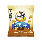 Goldfish Baked Snack Crackers, Whole Grain Cheddar, 0.75 oz., 100/Pack (140018197)