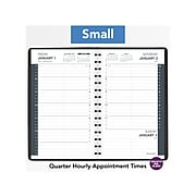"""2021 AT-A-GLANCE 5"""" x 8"""" Appointment Book, Black (70-800-05-21)"""