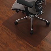 "Staples® 36"" x 48"" Wood Veneer Style Chair Mat for Hard Floors, Cherry"