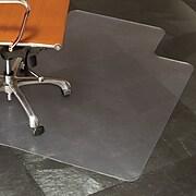 "ES ROBBINS® Natural Origins® 45"" x 53'' Chair Mat for Hard Floors with Lip, Biopolymer (ESR143012)"