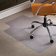 "ES ROBBINS® Natural Origins® 36"" x 48'' Chair Mat for Low Pile Carpet with Lip, Biopolymer (ESR141032)"