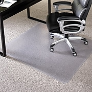 "Staples® Chairmat, For High Pile Carpets, No Lip, Rectangular, 60"" x 60"