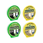 """FrogTape 1.41"""" x 60 yds. Painter Tapes, Yellow/Green, 4/Pack (FROGPACKN-STP)"""