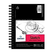 """Canson Universal 5.5"""" x 8.5"""" Sketch Pads, 100 Sheets/Pad, 3 Pads/Pack (54986-3PK)"""