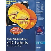 Avery Inkjet Media Labels, White Matte, 40 Disc and 80 Spine Labels/Pack (8960)