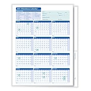 ComplyRight 2021 Attendance Calendar File Folder, White, Pack of 25 (A3050)