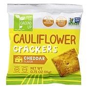 From The Ground Up Cauliflower Crackers Cheddar, 0.75 oz, 20/Pack (220-01035)