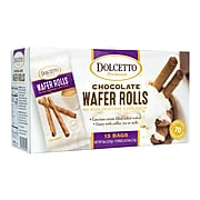 Dolcetto Premium Chocolate Wafer Rolls 70-Calorie Bag, 0.53 oz., 15 Count, 2/Pack (209-02649)