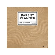 "2021 TF Publishing 12"" x 12"" Parent Planner, Brown (211036)"