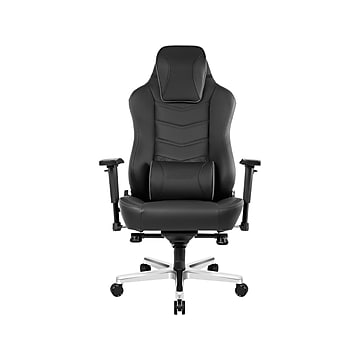 AKRACING Office Series Onyx PU Leather Computer and Desk Chair, Black (AK-ONYX)