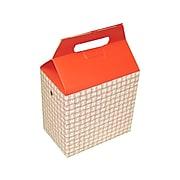 "Dixie Food Box 8"" x 8"" x 5"", White/Red, 125/Carton (H2RP)"