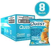 Quest Protein Chips, Cheddar & Sour Cream, 1.1 Oz., 8/Pack (307-00240)