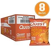 Quest Protein Chips, Nacho, 1.1 Oz., 8/Pack (307-00241)