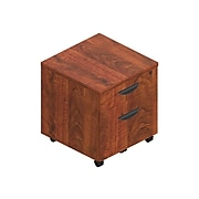 """Offices to go Superior 2-Drawer Vertical File Cabinet, Locking, Letter/Legal, American Dark Cherry, 22"""" (TDSL22BFMADC)"""