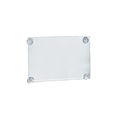 Azar Displays Acrylic Sign Holder with Suction Cups