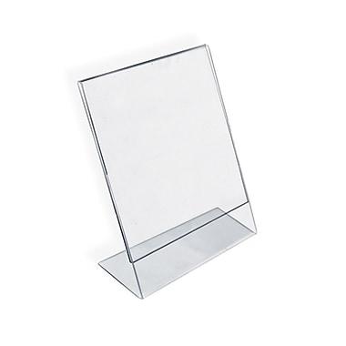Azar Displays Vertical Slanted L-Shape Acrylic Sign Holder