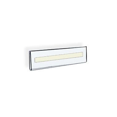 Azar Displays Acrylic Wall Mount Sign Nameplate Holder with Adhesive Tape
