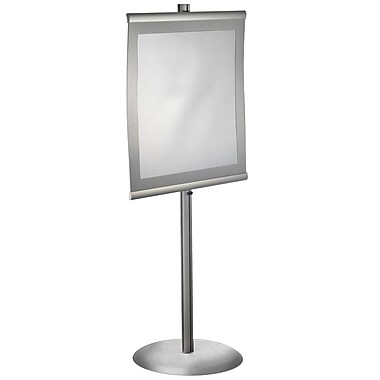 Azar Displays Curved Metal Floor Sign Holder