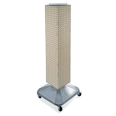 4-Sided Interlocking Pegboard Display Towers With Square Base, 40