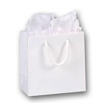 Sacs de magasinage européens mats plastifiés, 6 1/2 x 3 1/2 x 6 1/2 po, 200/paquet