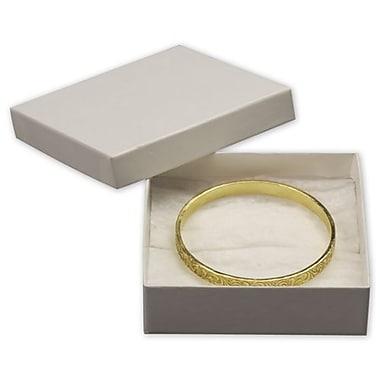 Coffrets à bijoux, 3 1/2 x 3 1/2 x 1 (po), 100/pqt.