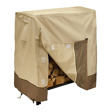 Classic® Accessories Veranda Woven Polyester Fabric Log Rack Cover, Pebble/Bark/Earth