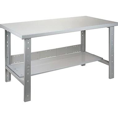 KLETON Workbench, Wood Filled Steel Top, Open Style, Lower Shelf