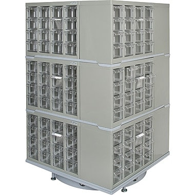 Kleton 3-Tier Heavy-Duty Industrial Carousel Drawer Cabinets
