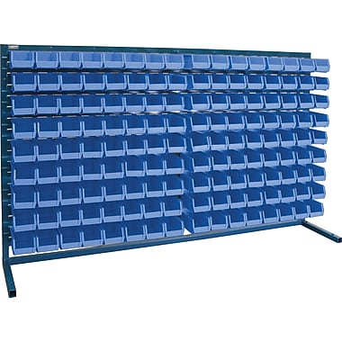 Kleton Louvered Bench Bin Racks, 144 Bins, 7-3/8