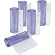 Klenton Replacement Strips for Strip Curtain Doors, Standard Temperature PVC, 5/Pack