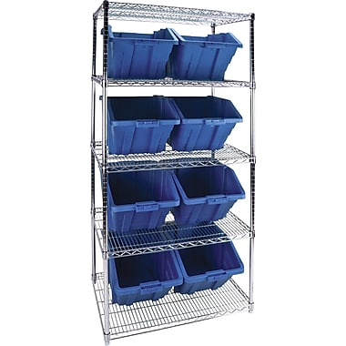 Kleton Wire Shelving Units With Storage Bins, 36