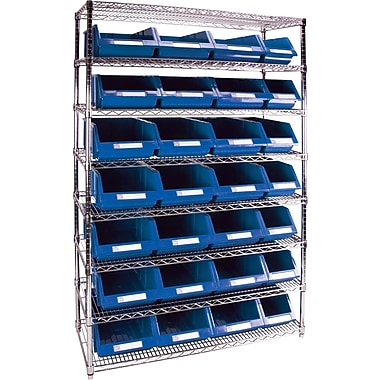 Kleton Wire Shelving Units With Storage Bins, 48