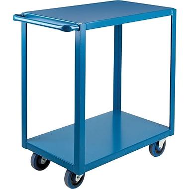 KLETON Heavy-Duty Shelf Carts, 2 Shelves, Lip Down, 36