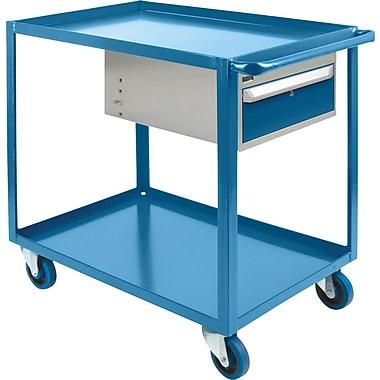 KLETON Heavy-Duty Shelf Cart With Drawer, 2 Shelves