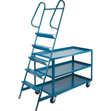 KLETON Stock Picking Carts, 3 Shelves, 5 Steps