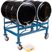 KLETON Drum Stacking Racks & Dollies Kits, 2 Drums, Hi-Temp Wheel, 1,600 lb. capacity