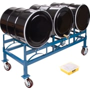 KLETON Drum Stacking Racks & Dollies Kits, 3 Drums, Hi-Temp Wheel, 2,400 lb. capacity