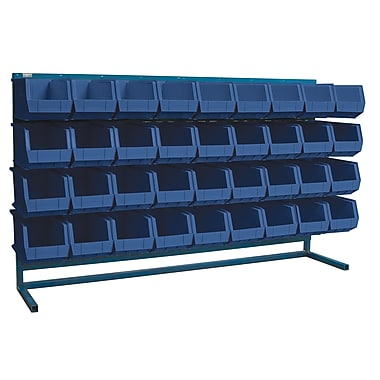 Kleton Louvered Bench Bin Racks, 36 Bins, 14-3/8