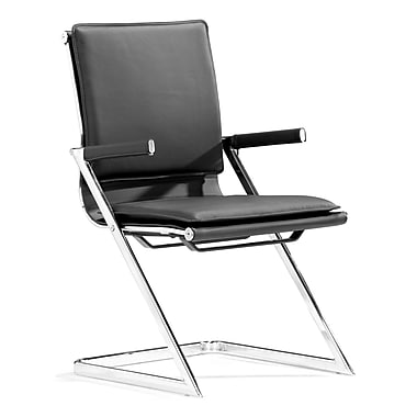 Zuo® Leatherette Lider Plus Conference Chairs, 2/Pack