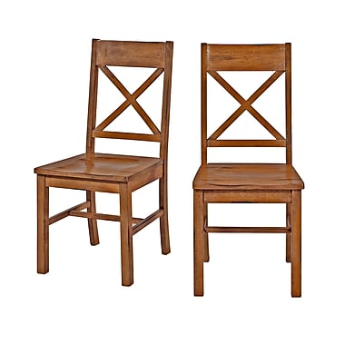 Walker Edison Millwright Wood Dining Chairs