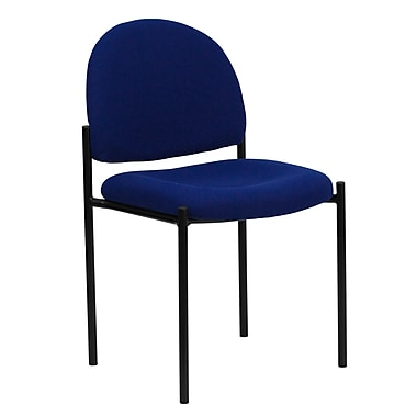 Flash Furniture Fabric Stackable Steel Side Chair, Navy