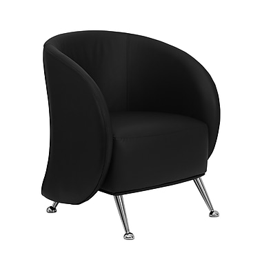 Flash Furniture Hercules Jet Leather Soft Reception Chair