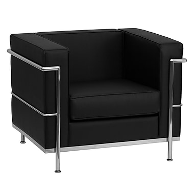 Flash Furniture HERCULES Regal Contemporary Leather Chairs With Encasing Frame
