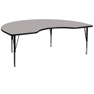 Flash Furniture – Table d'activités, haricot, 48 x 96 po, stratifié haute pression 1,25 po, pattes préscolaires réglables