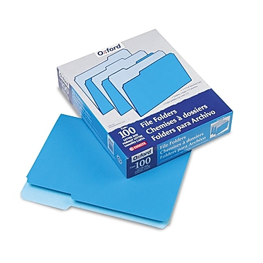 Esselte® 100/Pack Letter 1/3 Cut Recycled Standard File Folders