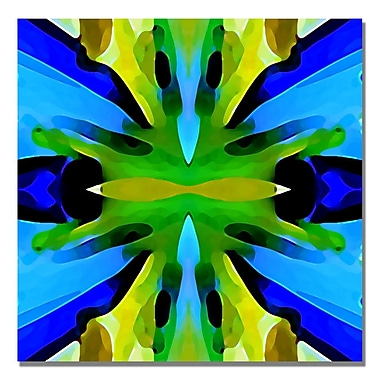 Trademark Fine Art Amy Vangsgard 'Paradise BLue and Green' Canvas Art