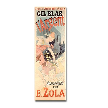 Trademark Fine Art Jules Cheret 'L'Argent by E.Zola 1889' Canvas Art