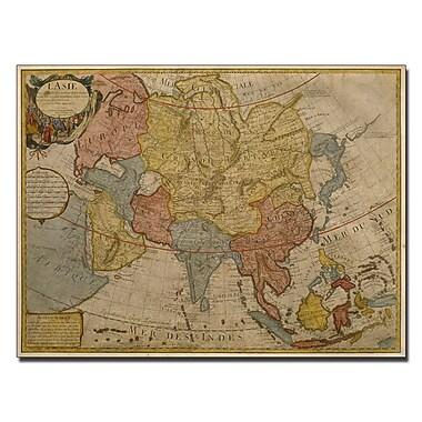 Trademark Fine Art Paris Guillaume Delilse 'Map of Asia, 1700' Canvas Art